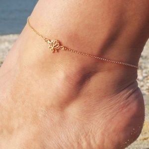Jewelry - Gold Lotus Flower Blossom Anklet